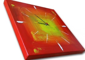 printed wall clock on canvas